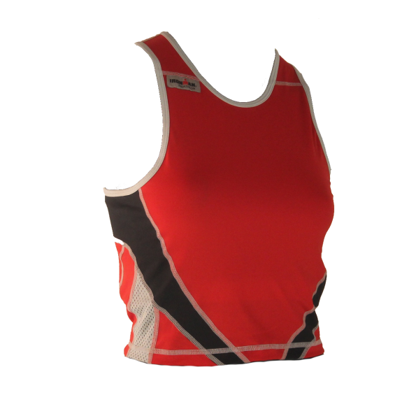 Ironman tri top mouwloos extreme rood/zwart dames  IMW7543-05/15
