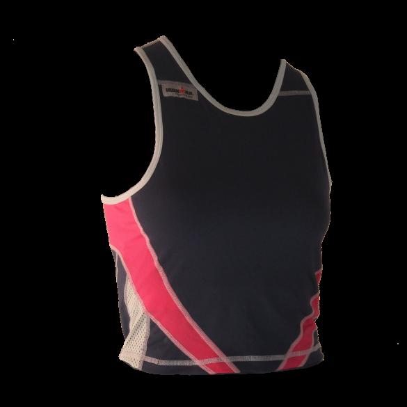 Ironman tri top mouwloos extreme blauw/roze dames  IMW7543-41/08