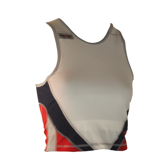 Ironman tri top mouwloos extreme 360 wit/rood/blauw dames  IMW8543-03/05