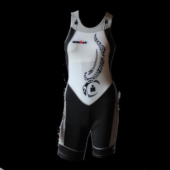 Ironman trisuit back zip mouwloos multisport tattoo wit/zwart/zilver dames  IMW8917-03/10
