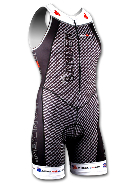 Ironman Sanden tri suit front zip heren SPECIAL EDITION  IRONSANTRI