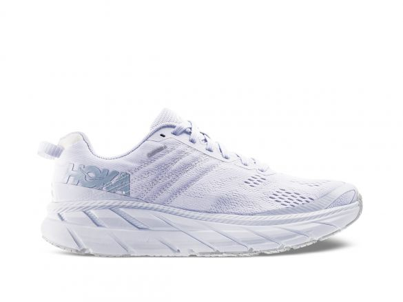 Hoka One One Clifton 6 hardloopschoenen wit heren  1102872-BWWH