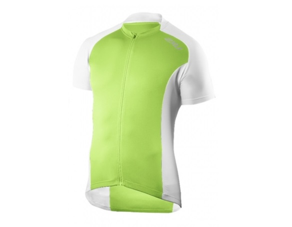 2XU fietsshirt Active Cycle Jersey groen wit MC2295  2XUMC2295aGW-VRR