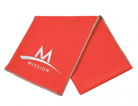 Mission Enduracool Tech Knit Towel High Vis Coral sport  00840007