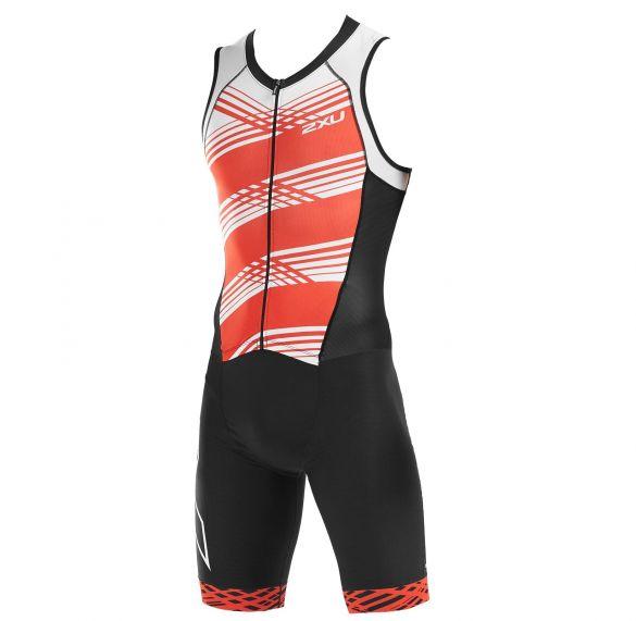 2XU Compression mouwloos trisuit zwart/rood heren  MT5517D-BLK/WFL