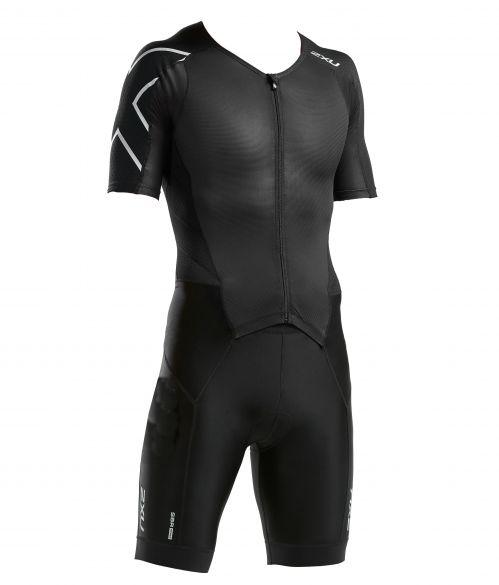 2XU Perform korte mouw trisuit zwart heren  MT5525d-BLK/BLK