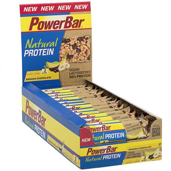 Powerbar Natural protein bar banaan chocolade 24 x 40 gram  3232