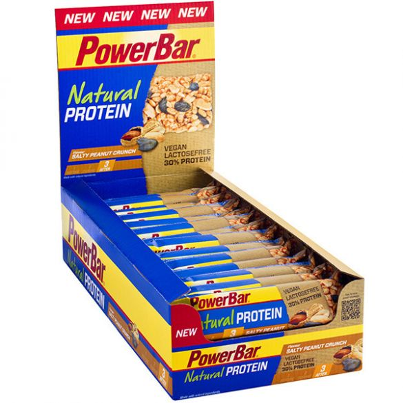 Powerbar Natural protein bar zoute pinda 24 x 40 gram  3234