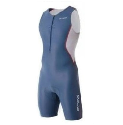 Orca Core Basic Race suit heren blauwgrijs/wit/oranje  ORCACOREBBGWO-VRR