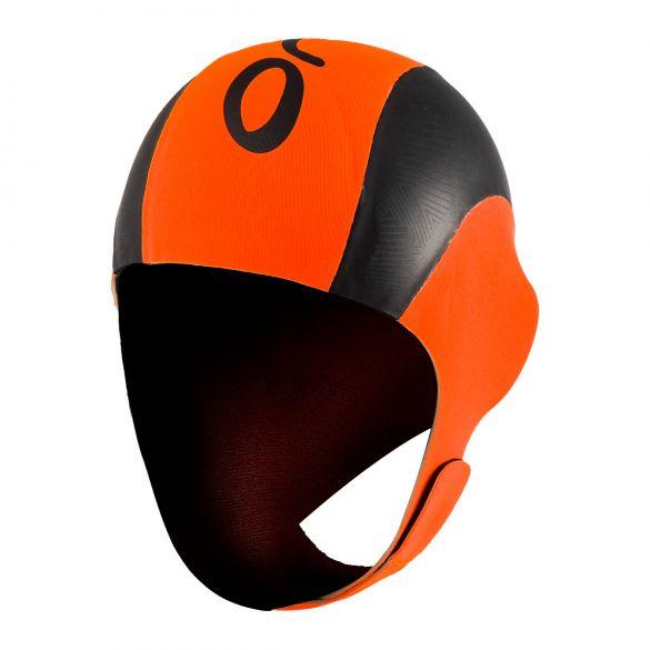Orca Neopreen swim cap zwart/oranje  LA42