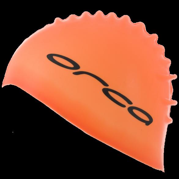 Orca Siliconen badmuts swim cap oranje  DVA054
