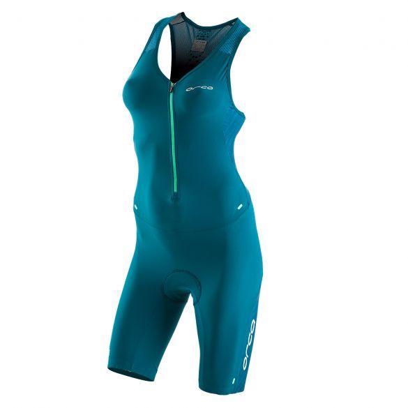 Orca 226 kompress race trisuit mouwloos groen dames  KP5288