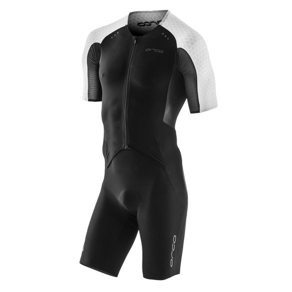 Orca dream kona aero race trisuit korte mouwen zwart/wit heren  KR1102