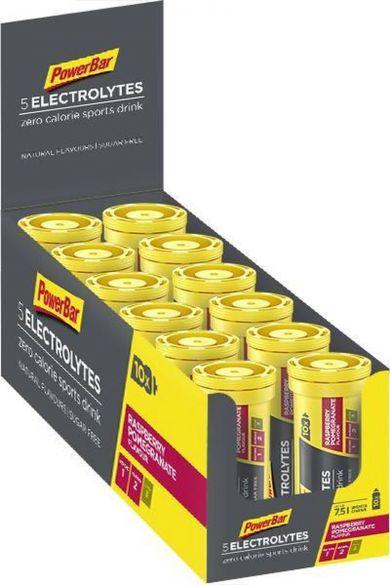 Powerbar Electrolyte tabs 12 x 10 tabletten framboos granaatappel  3302