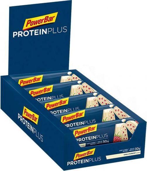Powerbar Protein plus 33% bar vanille framboos 10 x 90 gram  3426