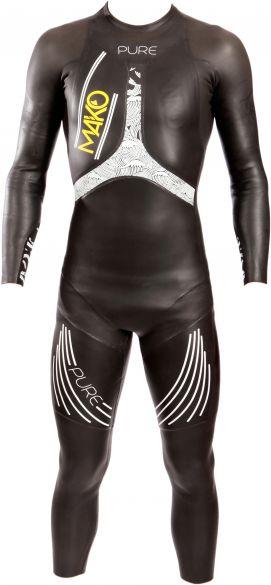 Mako Pure lange mouw wetsuit zwart/wit heren  161001
