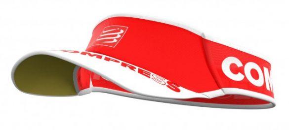 Compressport Ultralight hardloop visor rood  VISORV203