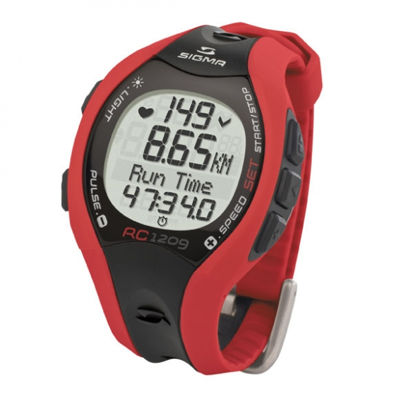 Sigma RC 1209 hartslagmeter rood  THV030612