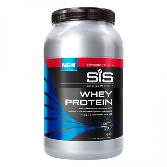 SIS Recoverydrink whey protein pot aardbei 1kg  SIS015016