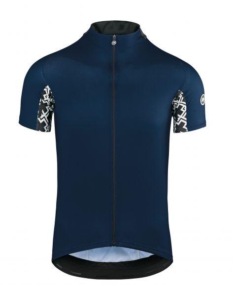 Assos Mille GT korte mouw fietsshirt blauw heren  112027525