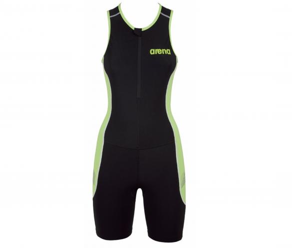 Arena ST front zip mouwloos trisuit zwart/groen dames  AR25106-56