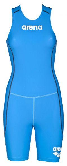 Arena ST rear zip mouwloos trisuit blauw dames  AR1A915-88