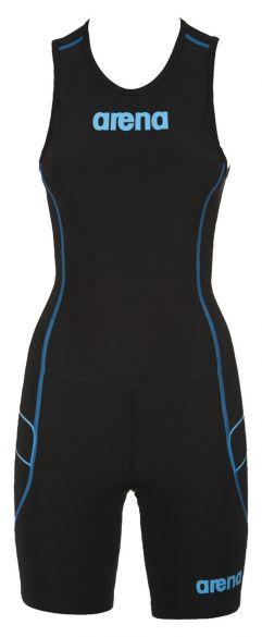 Arena ST rear zip mouwloos trisuit zwart dames  AR1A915-55
