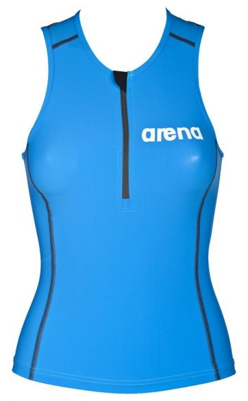 Arena ST mouwloos tri top blauw dames  AR1A916-88