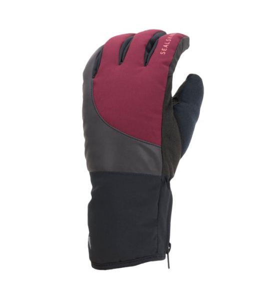 SealSkinz Cold weather reflecterende fietshandschoenen zwart/rood  12100069-0061