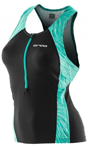Orca Core Support singlet mouwloos tri top zwart/groen dames  JVC820