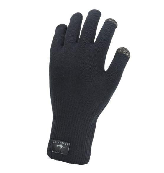 SealSkinz Ultra grip knitted fietshandschoenen zwart  12100082-0001