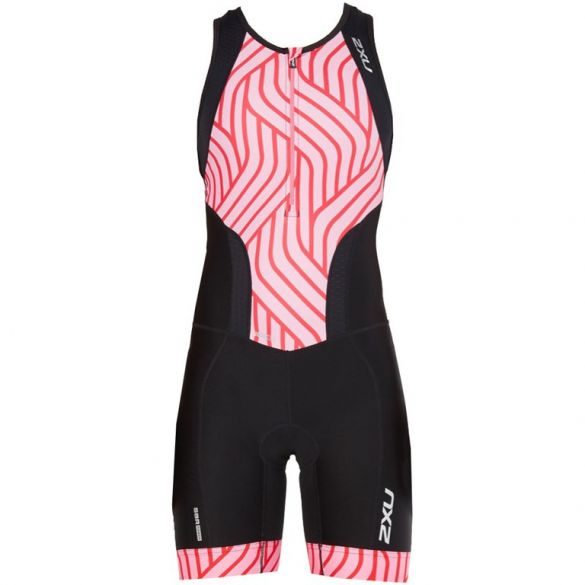 2XU Perform mouwloos trisuit zwart/roze dames 2018  WT4855d-BLK/RPT