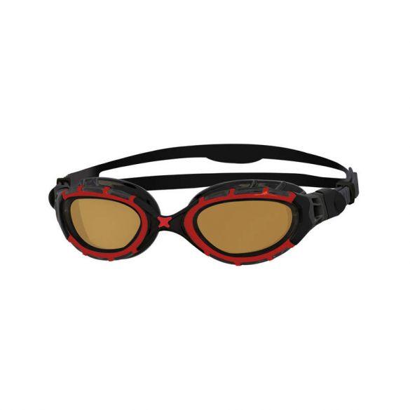 Zoggs Predator polarized ultra zwembril rood/zwart  461043-338847