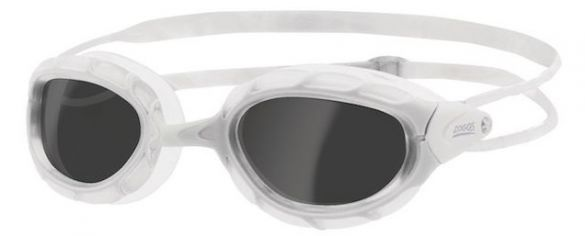 Zoggs Predator donkere lens zwembril wit  330863