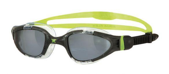Zoggs Aqua flex Titanium donkere lens zwembril zwart/groen  303488