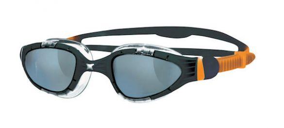 Zoggs Aqua flex donkere lens zwembril zwart/oranje  304487