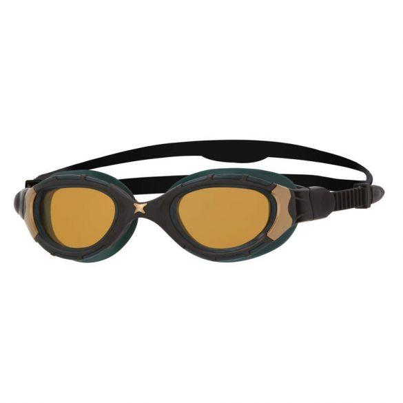 Zoggs Predator Flex Polarized Ultra Reactor zwembril zwart/goud  461044-302929