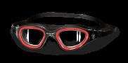 BTTLNS Ghiskar 1.0 transparante lens zwembril zwart/rood